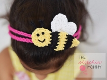 thestitchinmommy bee mine headband