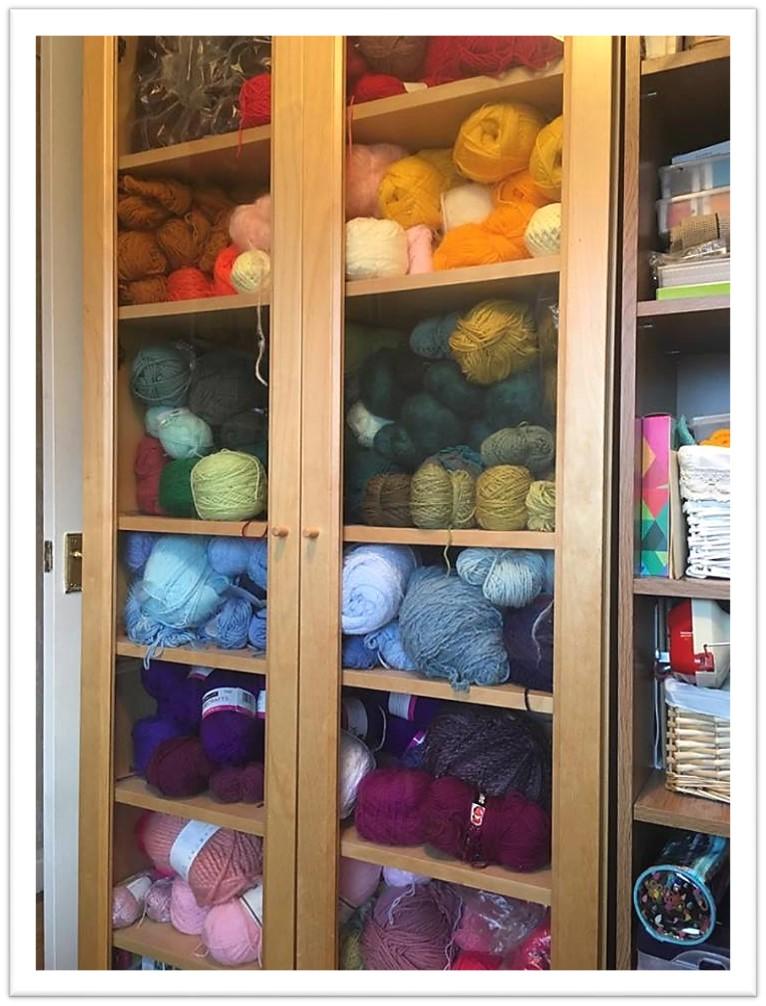 yarn stash cupboard