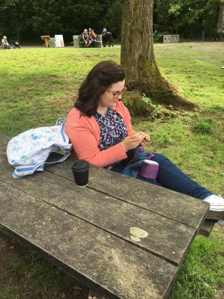 Crochet at Brockhole Bench
