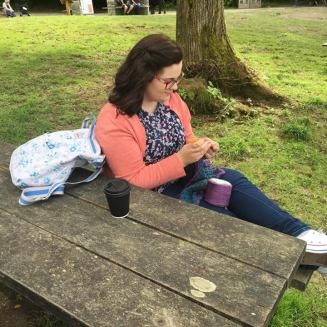 Crochet at Brockhole Bench